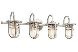 Kichler Vanity Lights Unique Vanity Lights Brushed Nickel Antique Bulb 3 Light Brushed