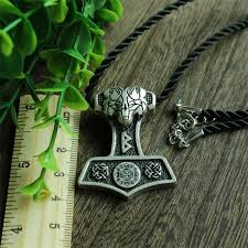 1pcs wholesale norse odin s wolf thor hammer pendant viking norway