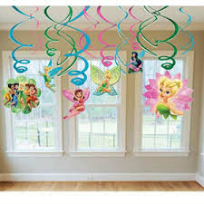 fairies and tinkerbell swirl decorations pack 12