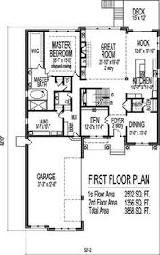 2 Story 4 Bedroom Floor Plans European Style House Plans 4685 Square Foot Home 2 Story 5