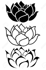 a lotus flower tribal tattoo set royalty free cliparts vectors