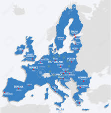 Europe Map With Country Names by European Union Map With All Europe Countries And Capital Name