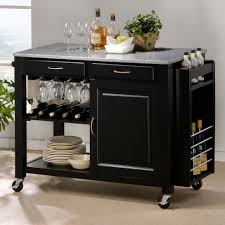 inimitable kitchen cart island granite top with black gloss