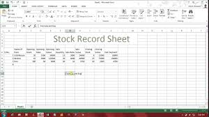 card stock card template for inventory stock