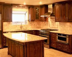 kitchen beautiful brown kitchen oak wooden cabinet beige granite
