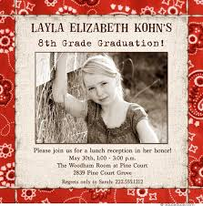 8th grade graduation invitations western photo graduation invitation bandanna 2018 y all