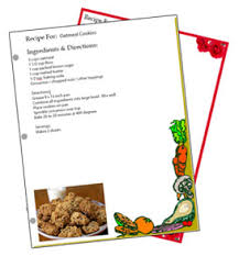 printable recipes templates binder sized free recipe card templates