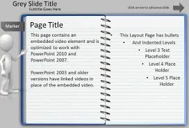 notebook ppt template animated notepad page turn effect for