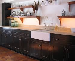 Black Kitchen Cabinets by Distressed Black Kitchen Cabinets Kitchen Traditional With