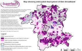 National Broadband Map Worcestershire Publishes Draft Bduk Superfast Broadband Coverage Map