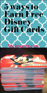 gift cards for cheap free money for disney gift cards has never been easier disney