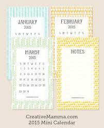 Small Desk Calendar 2015 Creative Mamma Free Printable 2015 Mini Calendar