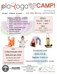 8 29 9 2 kids u0027 camp love move breathe