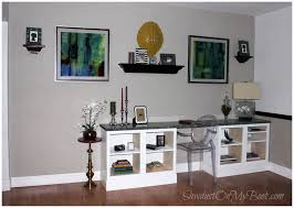 ana white built in desk diy projects