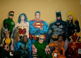 justice league wall mural more art less craft let me know what you think