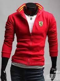 ferrari clothing men men korean style slant zipper long sleeve with hood coffee cotton