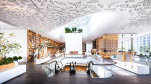 open house design klein dytham creates book lined space in bangkok u0027s central embassy