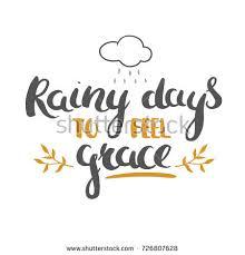 rainy days feel grace grateful thanksgiving stock vector 726807628