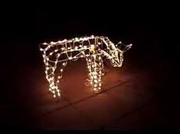 lighted reindeer doe