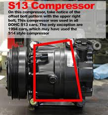 nissan frontier ac compressor can a 95 96 ac compressor work on 98 u0027 zilvia net forums