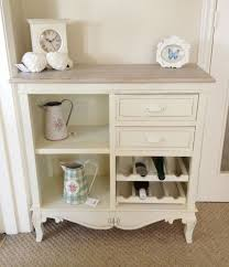 shabby chic french style cream storage kitchen buffet wine rack