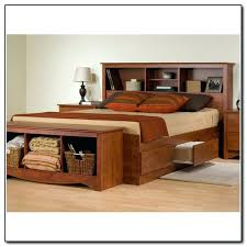 King Size Platform Bed With Storage Drawers Bookcase King Size Platform Bed With Storage And Bookcase