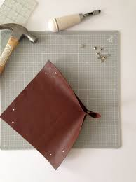 Leather Home Decor by Diy Leather Catchall The Everygirl