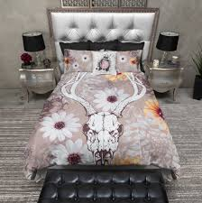 Daisy Crib Bedding Sets by Taupe Deer Skull And Daisy Duvet Bedding Sets Ink And Rags