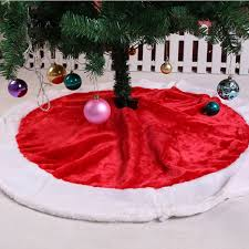 120cm large tree skirt plush aprons 2017