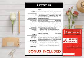 resume templates word stylish resume template for word check box