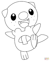 oshawott pokemon coloring page free printable coloring pages