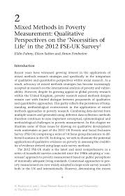mixed methods in poverty measurement qualitative perspectives on