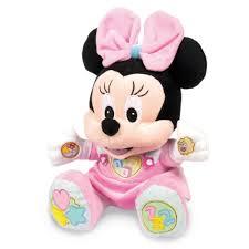 disney minnie mouse baby minnie talking soft toy 20 00