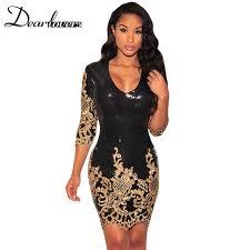 gold party dress aliexpress buy dear lover women party dress winter 2017