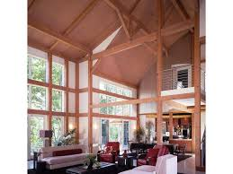 post beam contemporary style homes barn styles cement floor house