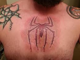 spiderman chest tattoo tattoo collections