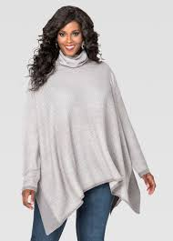 turtleneck poncho pullover sweater plus size sweaters stewart