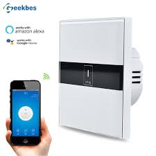 wifi controlled light switch geekbes el eu wifi switch touch glass panel smart app remote control