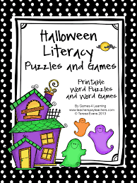 fun games 4 learning halloween literacy freebies
