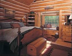 Log Home Decor Ideas A Woodsy Retreat Cabin Decor Idea Taking Logs To New Heights