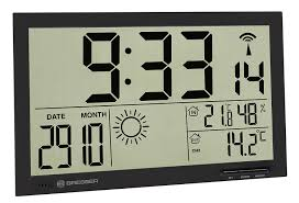 bresser weather station wall clock mytime jumbo lcd with outdoor