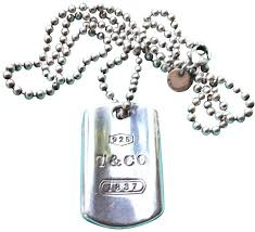 tag chain necklace images Tiffany co silver 1837 dog tag on 34 quot ball bead chain necklace jpg