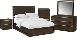 American Signature Bedroom Furniture by The Gavin Bedroom Collection Brownstone American Signature