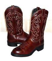 s narrow boots canada boulet mens 8 c narrow brown blue leather cowboy boots
