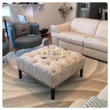 How To Make A Coffee Table Ottoman Tufted Ottoman With Tapered Legs Nailheads And Rhinestones