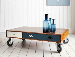 small table on wheels small drawer coffee table with wheels coffee tables