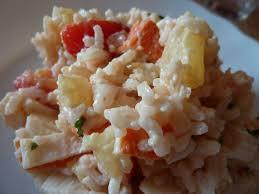 cuisine avec du riz salade de riz surimi ananas sauce coktail la cuisine au fil d