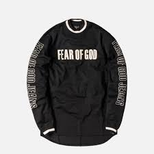 motocross jerseys fear of god 5th collection mesh motocross jersey black u2013 kith