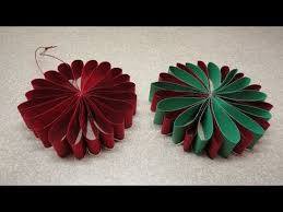 folded flower tree ornament