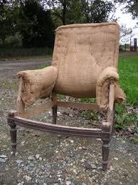 fauteuil ancien style anglais sièges anciens à restaurer ou à relooker tissus originaux